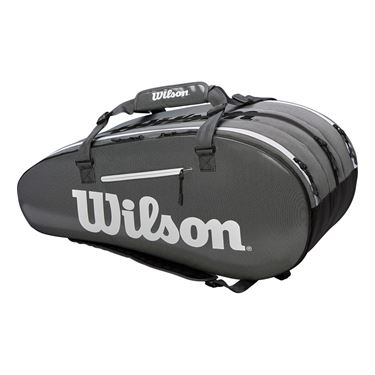 Wilson Super Tour 15 Pack Tennis Bag - Black/Grey