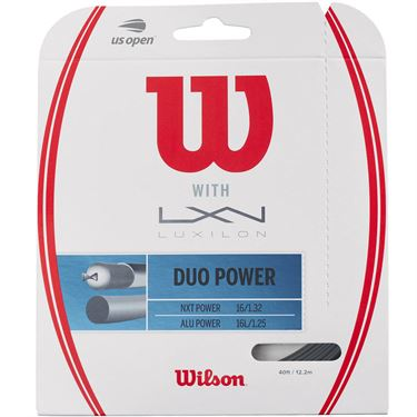 Wilson Duo Power Hybrid Tennis String - Wilosn NXT Power/Luxilon ALU Power 125