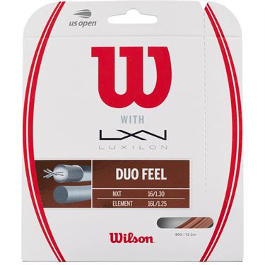 Wilson Duo Feel Hybrid Tennis String - Wilson NXT Control 16/Luxilon 4G Rough 125
