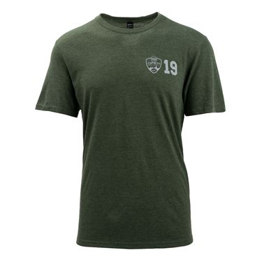 W&S Short Sleeve Tee Mens Army Green WST19 04