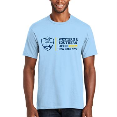 Western & Southern Open Logo Short Sleeve Tee - Light Blue
