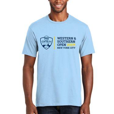 Western & Southern Open Logo Short Sleeve Tee - Light Blue