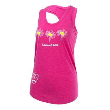 Western and Southern Open 2018 3 Flower Tank - Fuchsia Frost