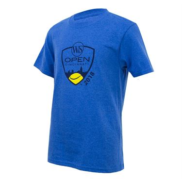 Western and Southern Open Kids Shield Tee - Heather Blue