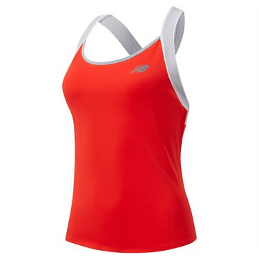 New Balance Tournament Tank Womens Neo Flame WT01432 NEF