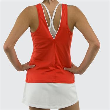 New Balance Rally Court Tank - Coral Glow
