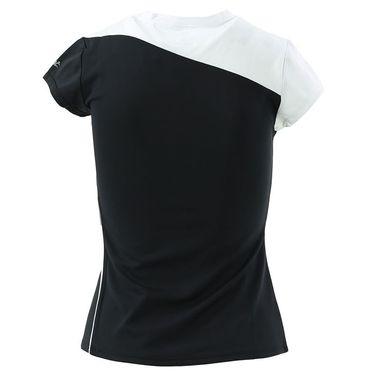 DUC Cap Sleeve Performance Top-White/Black
