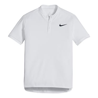 Nike Boys Court Advantage Polo - White/Black