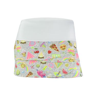 Lucky in Love Girls Camp Skirt - Multi Color
