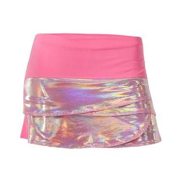 Lucky in Love Girls Core Tuxedo Scallop Skirt - Pink