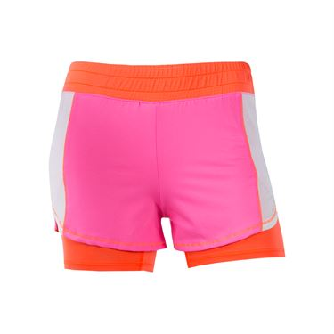Lucky in Love Wild At Heart Girls Training Short - Neon Pink