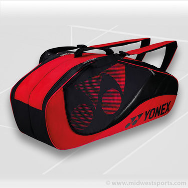 Yonex Tournament Active Red 6 Pack Tennis Bag
