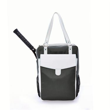 Cortiglia Brisbane Grey and White Tennis Bag