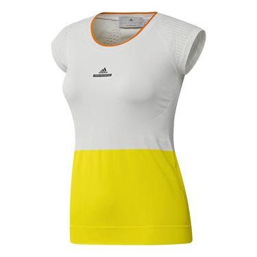 adidas Stella McCartney Top - White/Bright Yellow