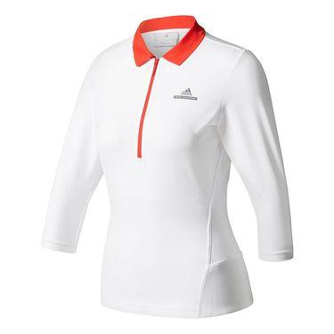 adidas Stella McCartney 3/4 Sleeve Top - White/Red