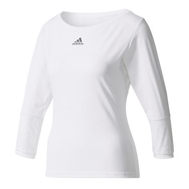 adidas London Line 3/4 Sleeve Top - White