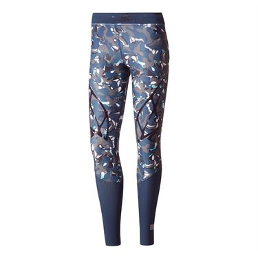 adidas Stella McCartney Run Sprint Printed Tight - Dark Green