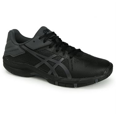 Asics Gel Solution Speed 3 Junior Tennis Shoe - Black/Dark Grey