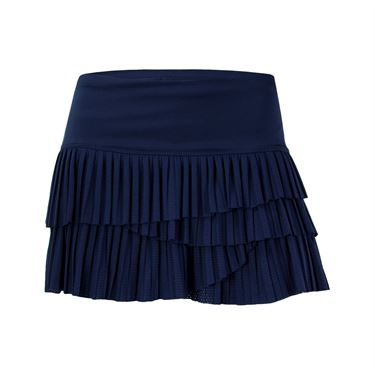 Lucky In Love Pleat Scallop Skirt - Midnight