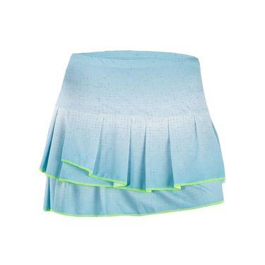 Lucky in Love Las Palmas Palm Bay Pleat Tier Skirt - Aquafrost