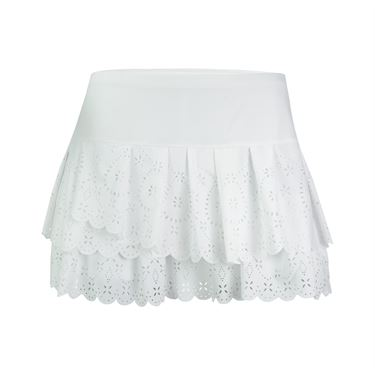 Lucky in Love Laser Pleat Tier Skirt - White