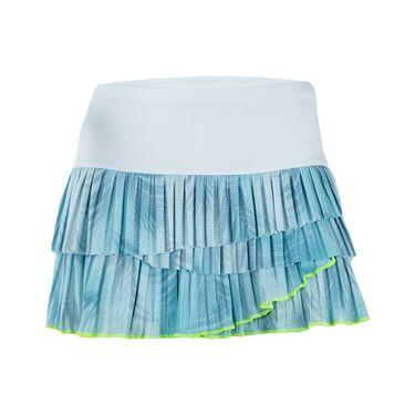 Lucky in Love Las Palmas Pleated Scallop Skirt - Aquafrost