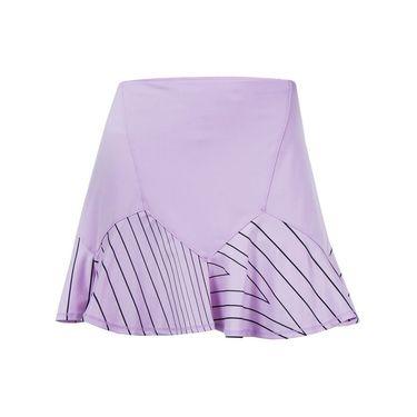 Lucky in Love Hyper Wave Long Flounce Skirt - Viola