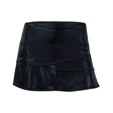 Lucky in Love Slither Scallop Skirt - Black