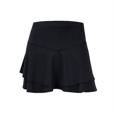 Lucky in Love Hyper Wave Long Flip Tier Skirt - Black
