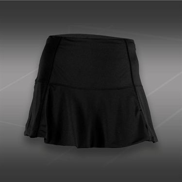 Lucky in Love Tummy Control Flounce Skirt-Black