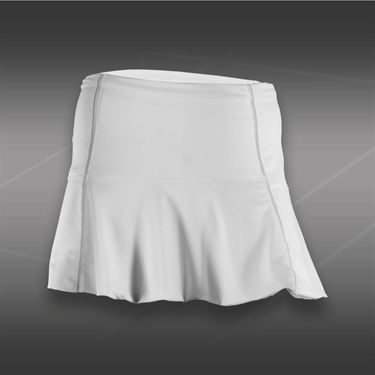 Lucky in Love Tummy Control Flounce Skirt-White