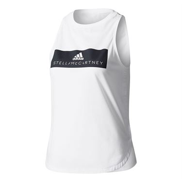 adidas Stella McCartney Essence Logo Tank - White