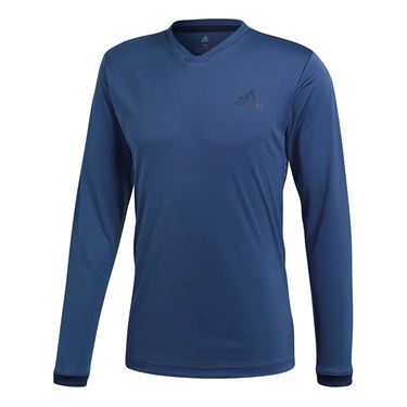 adidas Club LS UV Protect Tee - Noble Indigo Blue