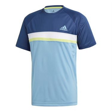 adidas Club Color Block Crew - Ash Blue