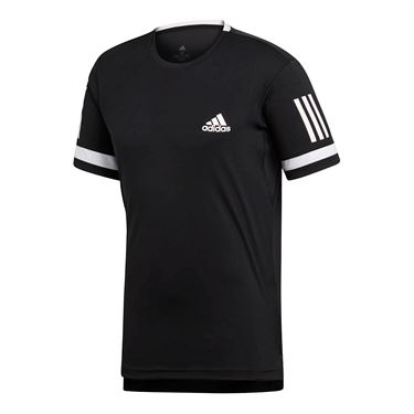 adidas Club 3 Stripes Crew - Black/White