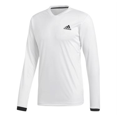 adidas Club LS UV Protect Tee - White