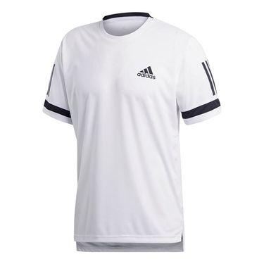 adidas Club 3 Stripes Crew - White