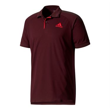 adidas Barricade Polo - Dark Burgundy