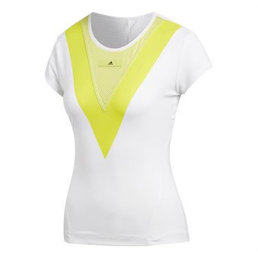 adidas Stella McCartney Barricade Tee - White/Aero Lime