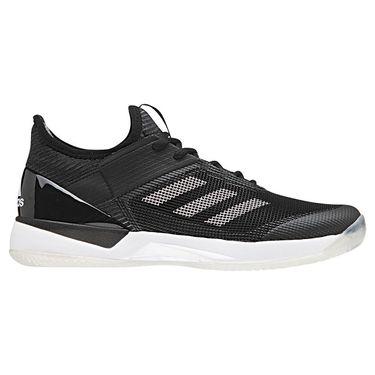 adidas adizero Ubersonic 3 Clay Womens Tennis Shoe - Core Black/White/Core Black