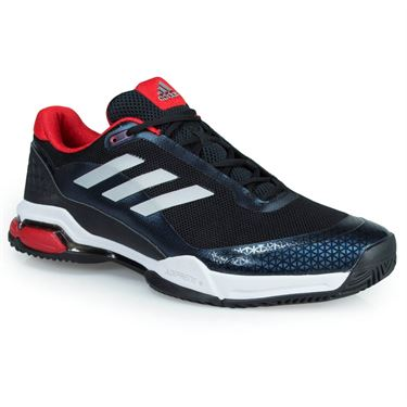 adidas Barricade Club Mens Tennis Shoe - Core Black/Matte Silver/White