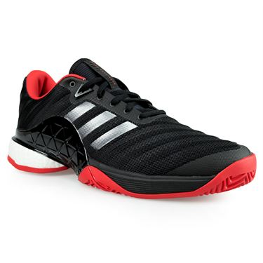 adidas barricade 2018 boost Mens Tennis Shoe - Core Black/Night Metallic/Scarlet