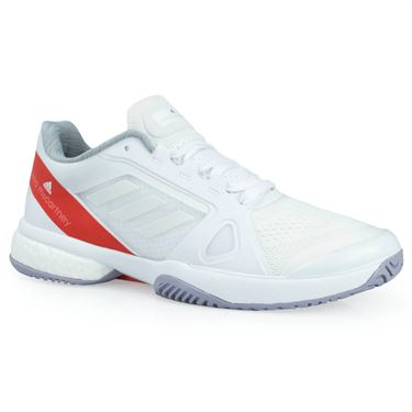 adidas Stella McCartney Barricade Boost Womens Tennis Shoe - White/Dark Callistos/Pearl Grey