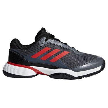 adidas Barricade Club Junior Tennis Shoe - Core Black/Scarlet/White