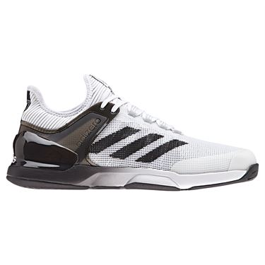 adidas adizero Ubersonic 2 Mens Tennis Shoe - White/Core Black/Grey Two