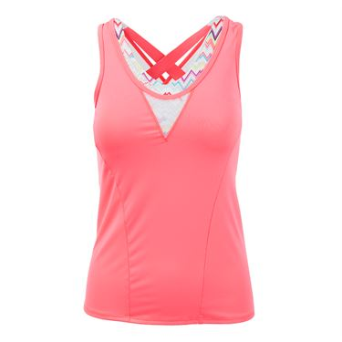 Lucky in Love High Frequency Active Fit Ecstatic Balette Cami - Lava
