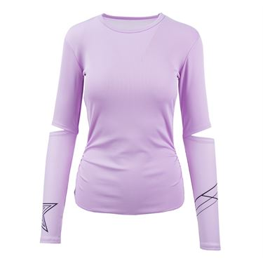 Lucky in Love Hyper Wave Long Sleeve Top - Viola