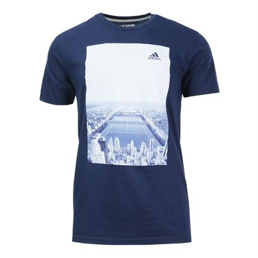 adidas Central Court Graphic Tee - Collegiate Navy
