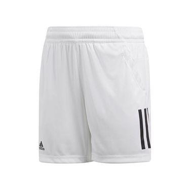 adidas Boys Club 3 Stripe Short - White
