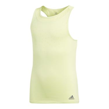 adidas Girls Dotty Tank - Semi Frozen Yellow
